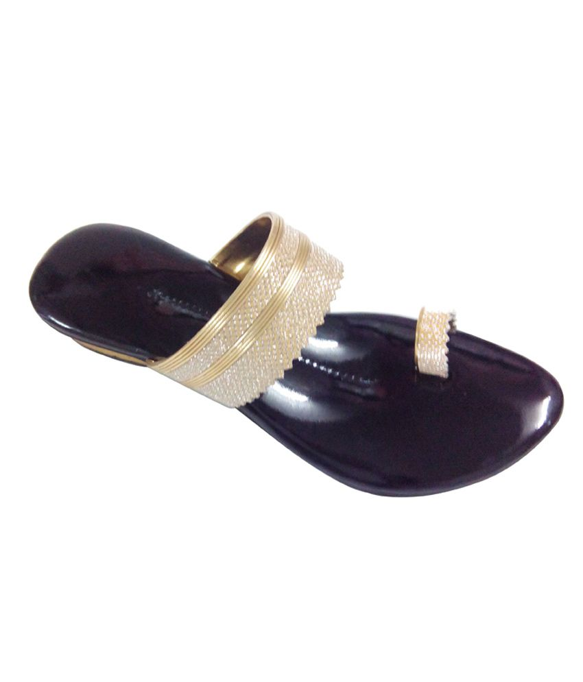 N7 Golden Women's Flat Slip-on