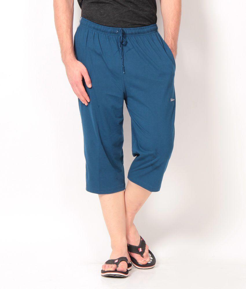 Okane Classic Dark Blue Cotton   3/4th Capri