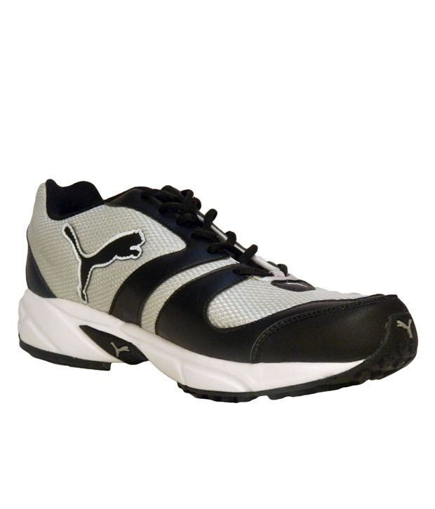Puma Shoes Black And Silver