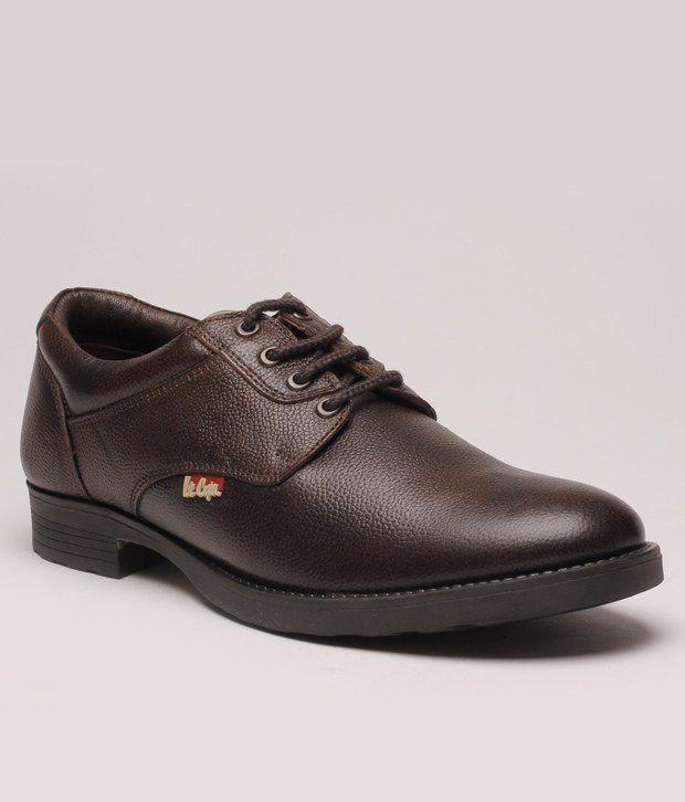 Lee Cooper Brown Derby Formal Shoes