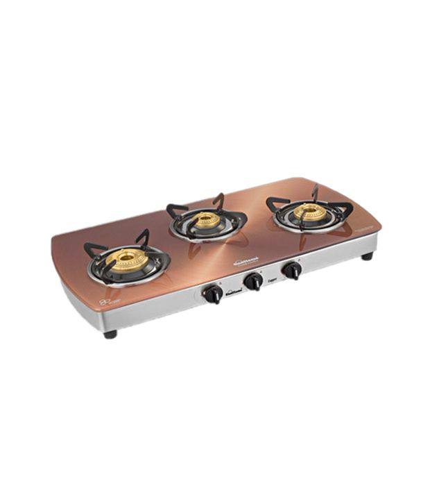 Sunflame Crystal 3B-SS AI 3 Burner Gas Cooktop