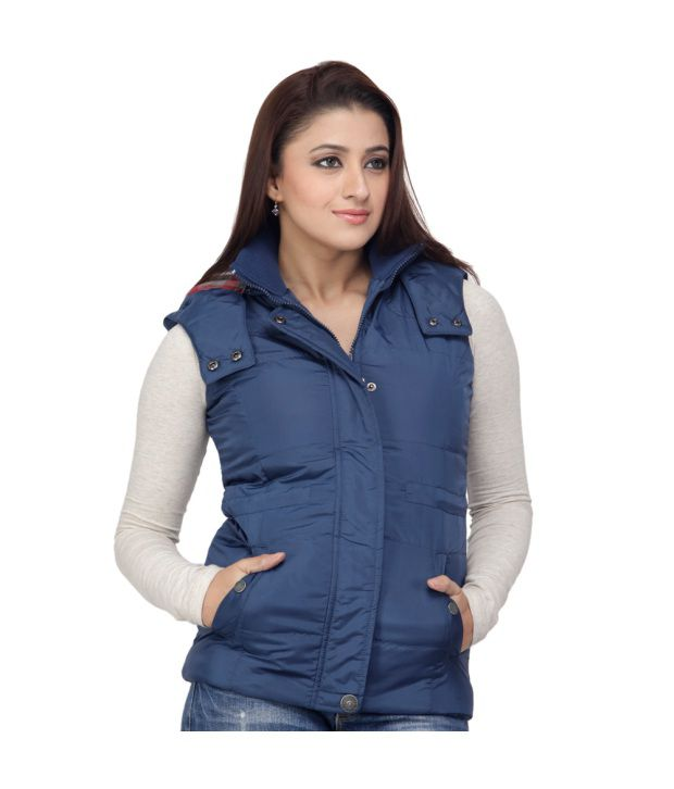 b12cfd0dd5b56f Buy Juelle Blue Sleeveless Women - Jackets Online at Best Prices in India -  Snapdeal