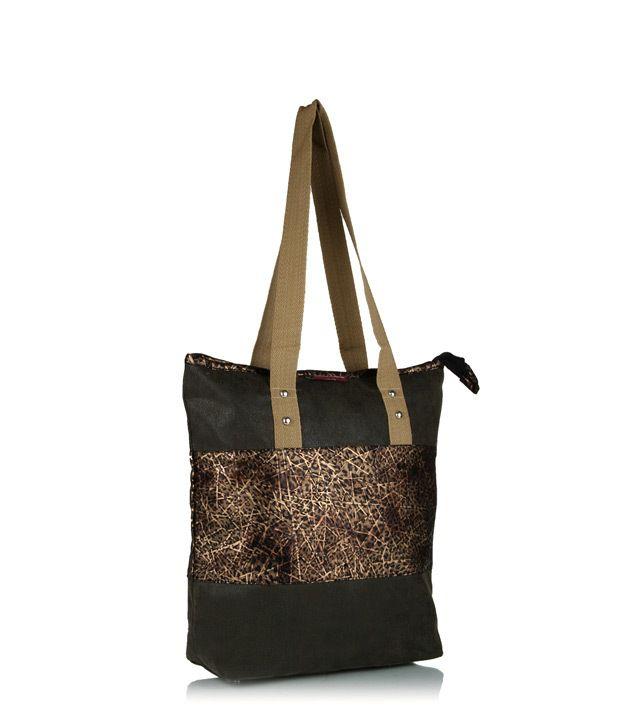 Home Heart Brown Elegant Handbag