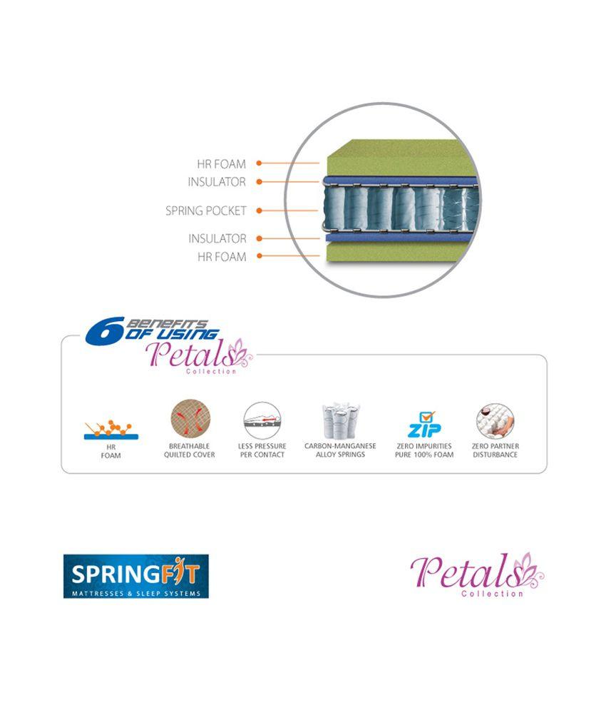 springfit petals collection prestige mattress buy springfit petals
