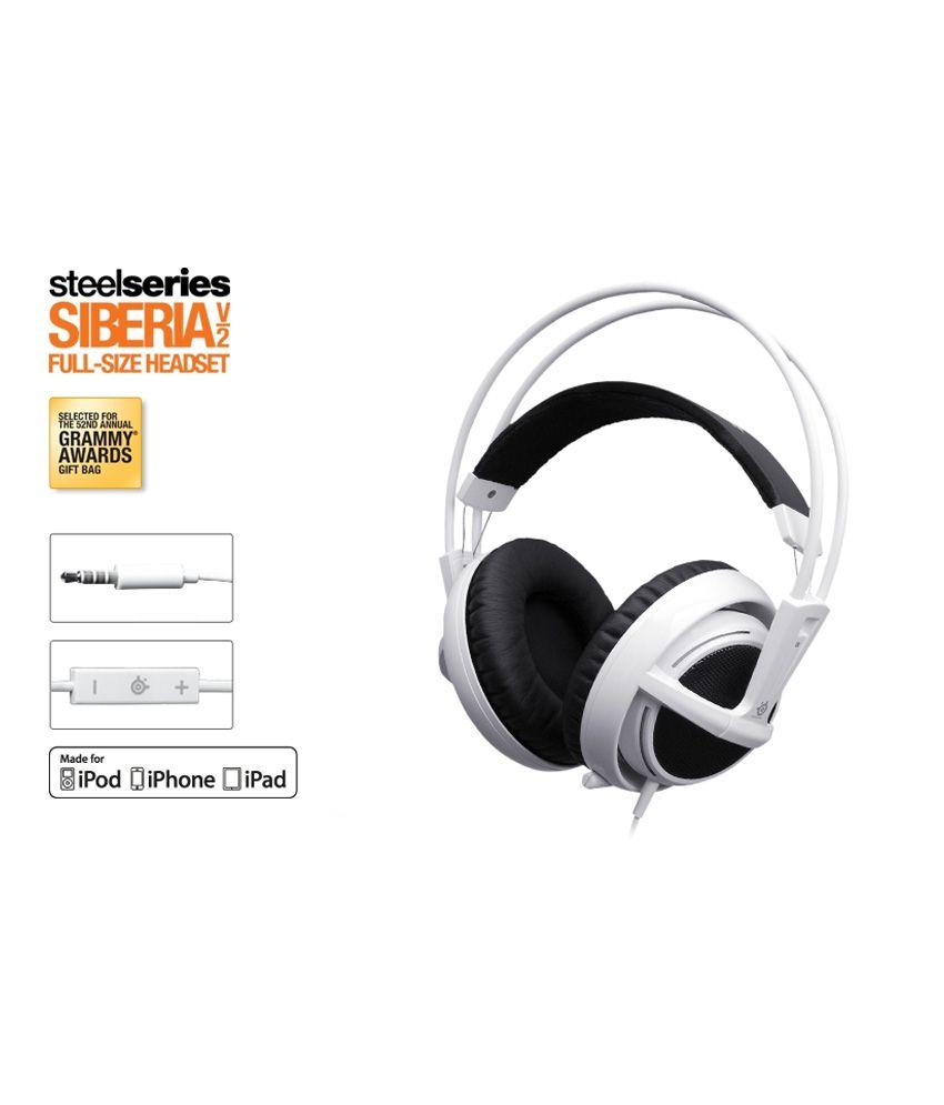 Buy Steelseries Siberia v2 White Apple Ver  Headset Online