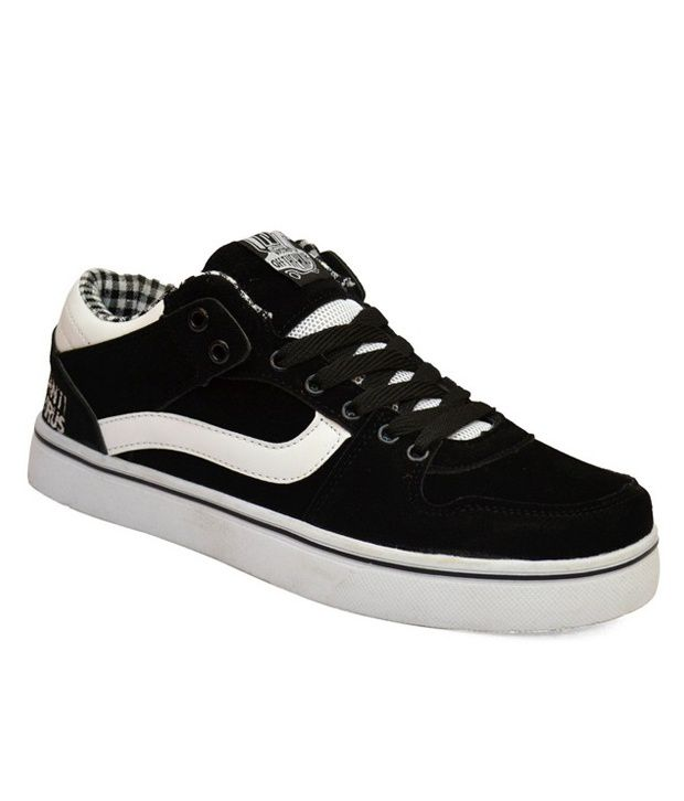 vostro trendy black and white casual shoes price in india