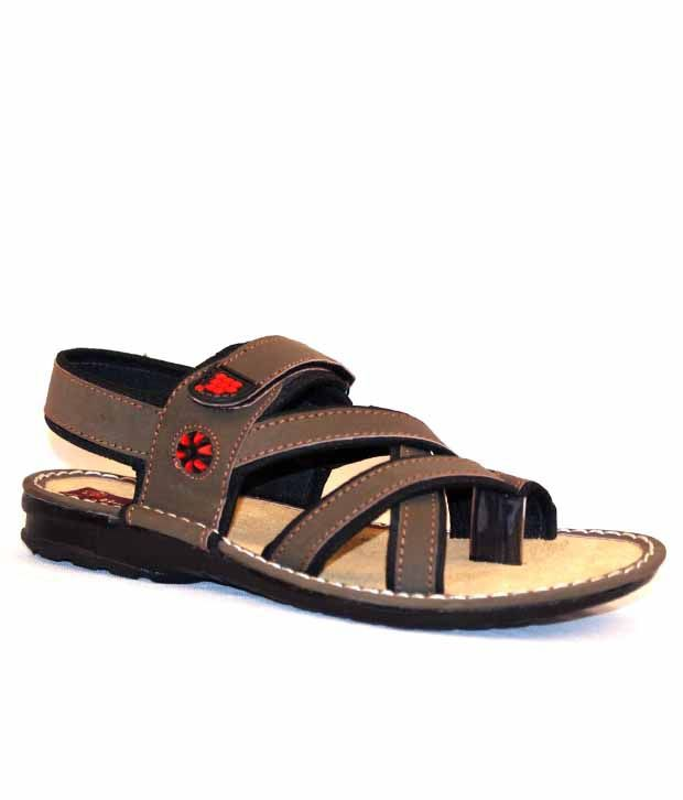 Derby Kohinoor Comfortable Olive Sandals with Velcro Closure