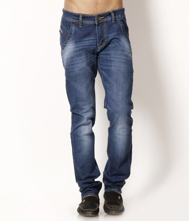 HDI Impressive Faded Blue Jeans with Free Sunglasses
