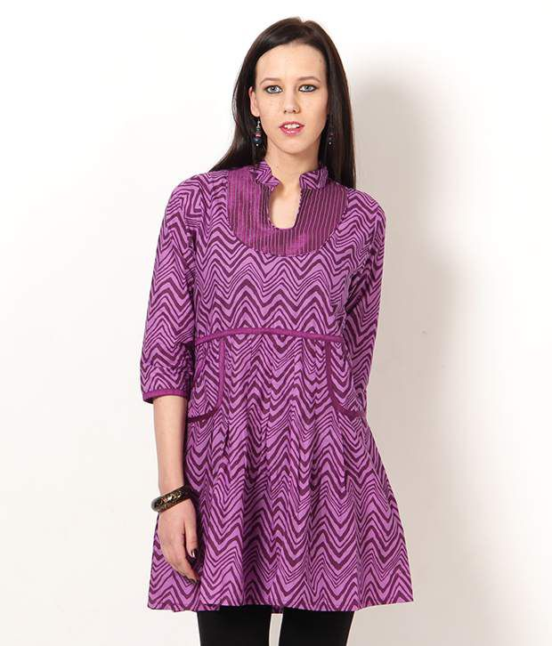 c741a6961 VANI Purple Handcrafted Cotton Kurti - Buy VANI Purple Handcrafted Cotton  Kurti Online at Best Prices in India on Snapdeal
