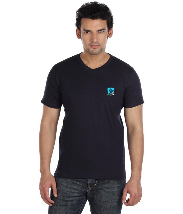 Go Untucked Classic Navy V-Neck T Shirt