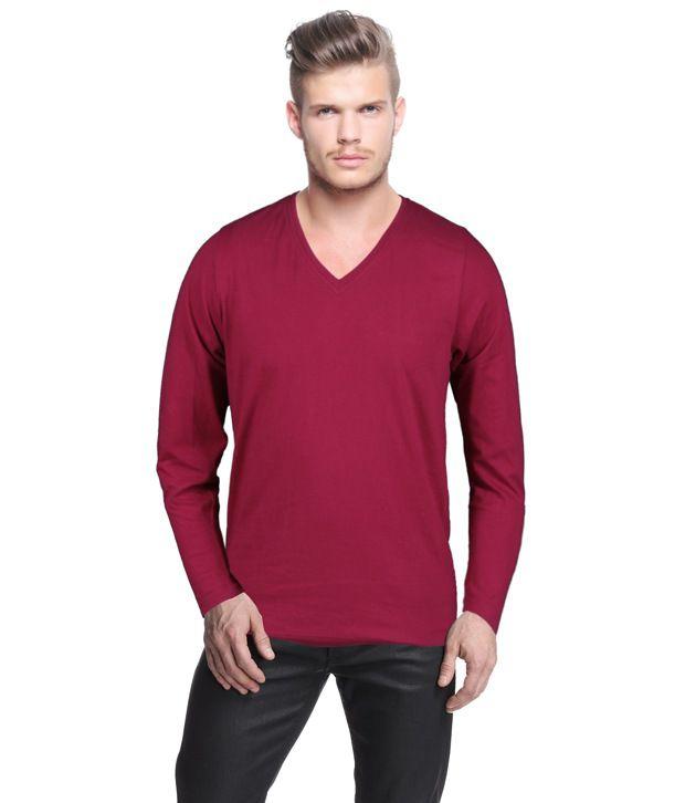 Rigo Maroon Full Sleeve T Shirt