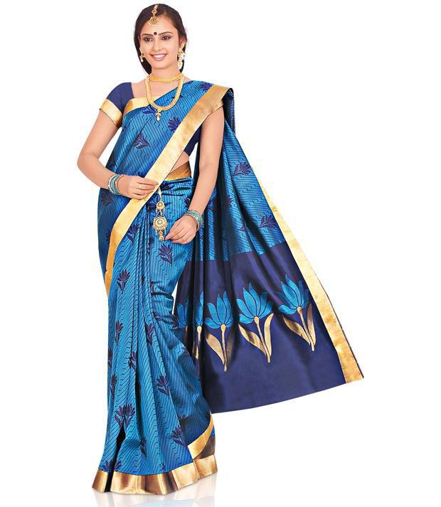 eea829dbafe597 Utsav Fashion Turquoise and Blue Pure Kanchipuram Handloom Silk Saree with  Blouse - Buy Utsav Fashion Turquoise and Blue Pure Kanchipuram Handloom Silk  ...