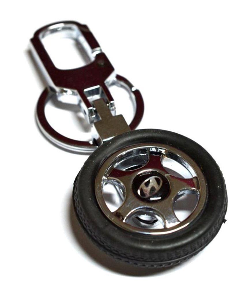Prime Traders Hyundai Rotary Wheel Keychain for Cars & Bike: Buy ...