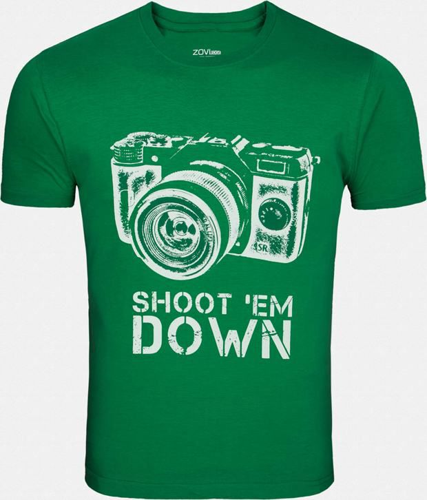 Zovi Exclusive Green Printed T Shirt