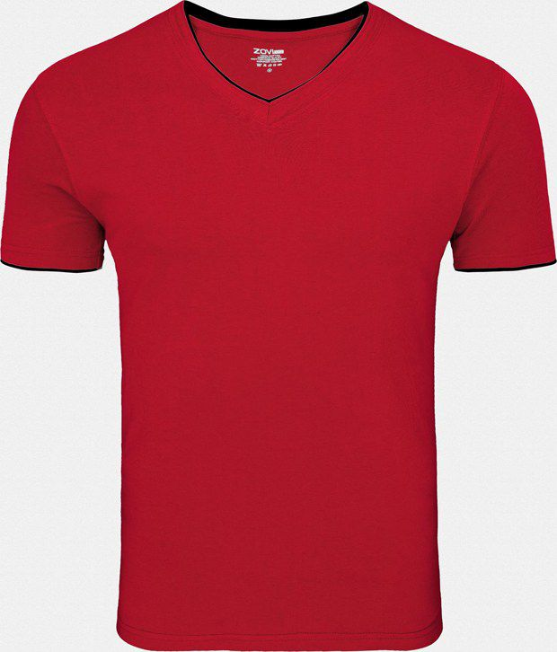 Zovi red V-Neck T Shirt