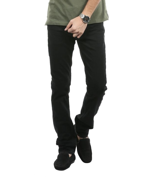 Blumerq Jet Black Slim Fit Jeans