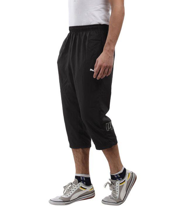 fbd80288c25b Branded Puma Black 3 4 Pants For Men - Buy Branded Puma Black 3 4 ...