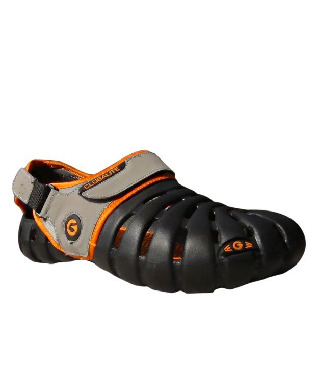 45da5886062 Globalite Black Floater Sandals - Buy Globalite Black Floater Sandals Online  at Best Prices in India on Snapdeal