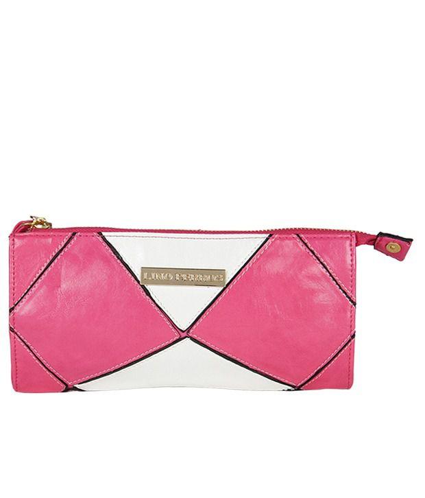 Lino Perros Pink & White Designer Women Wallet