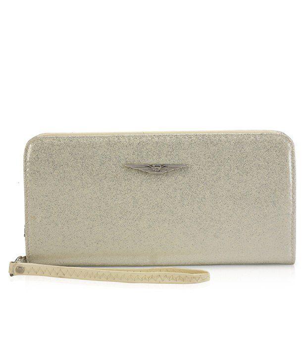 Lino Perros Stylish Shimmery White Women Wallet