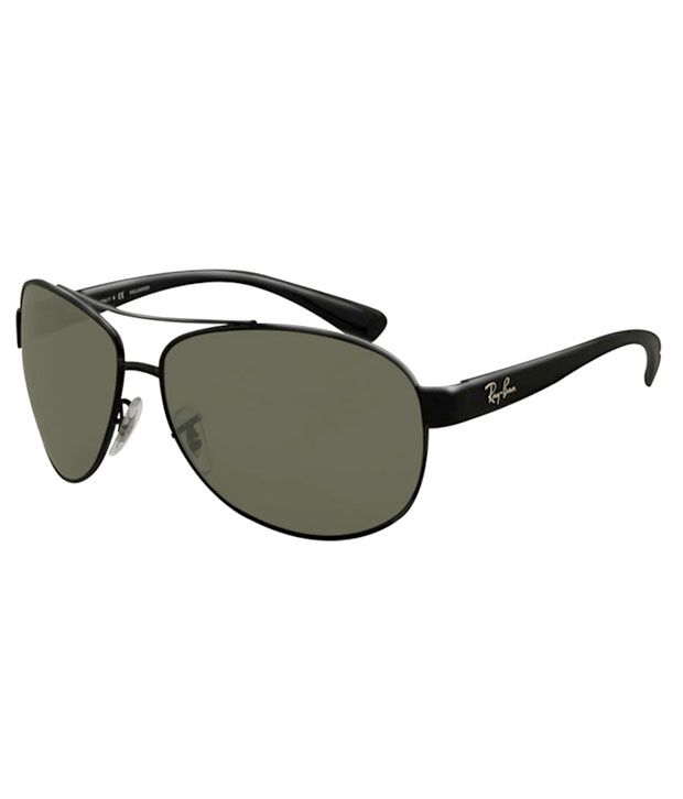 sunglass ray ban price  Ray-Ban Green Polarized Aviator Sunglasses (RB3386 002/9A 63-13 ...