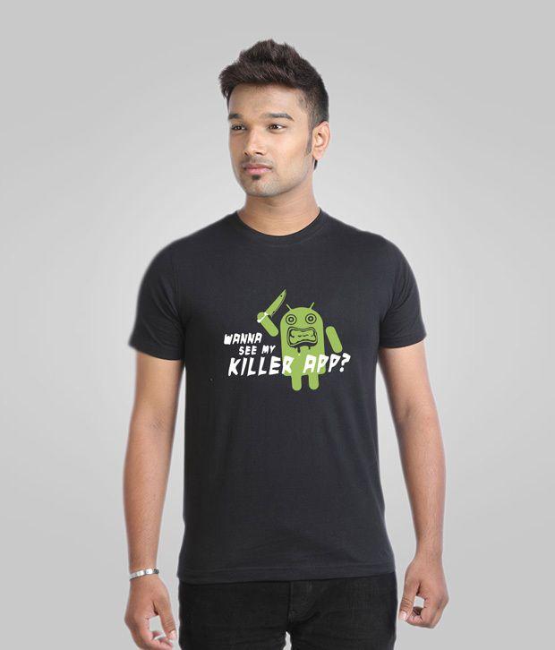Campus Sutra Captivating Black T-Shirt