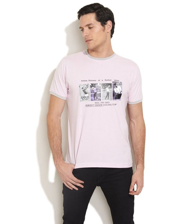 27Ashwood Trendy Pink Printed T Shirt