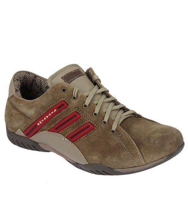Fit \u0026 Fine Green Smart Casuals Shoes