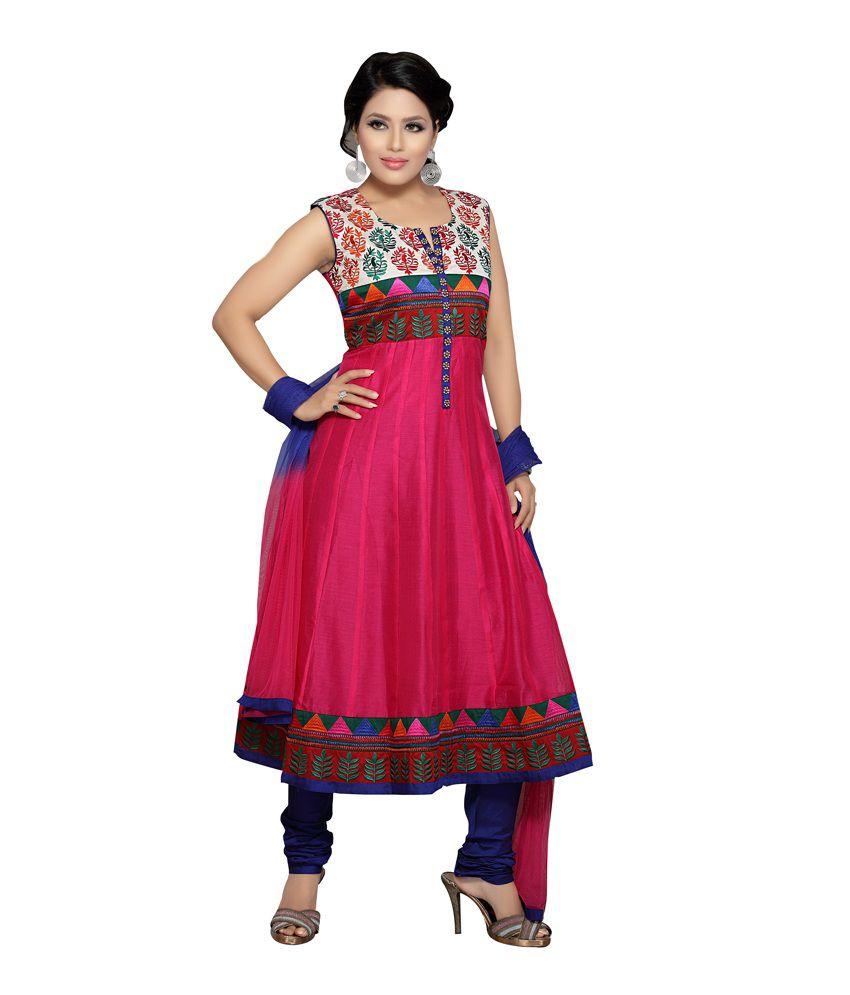 Idha Rani Silk Readymade Anarkali Suit