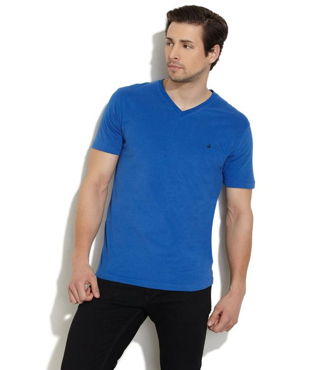 John Players Blue V-Neck T Shirt