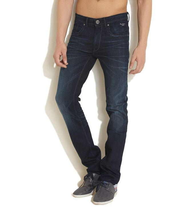 Pepe Jeans London Blue Faded Jeans