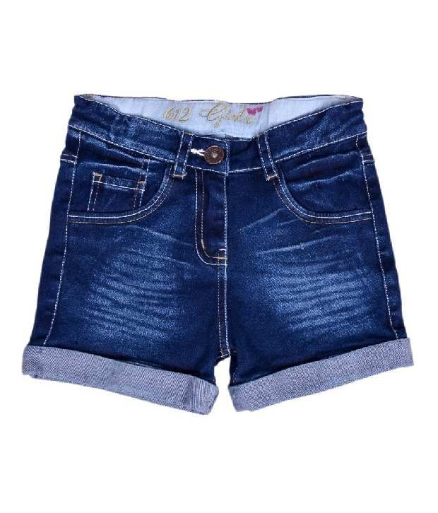 612Ivyleague Denim Navy Blue Shorts For Kids