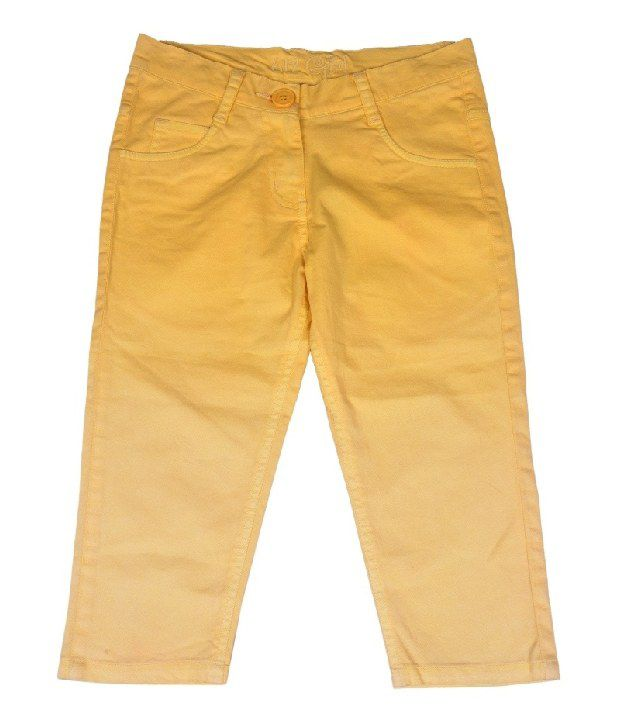 612Ivyleague Yellow Capri For Kids