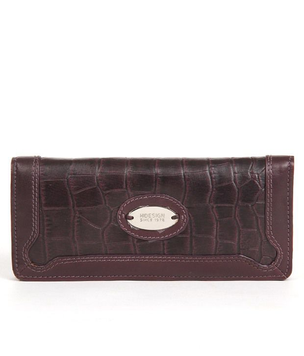 Hidesign Alicia W1 (628) Croco-Aubergine Clutch