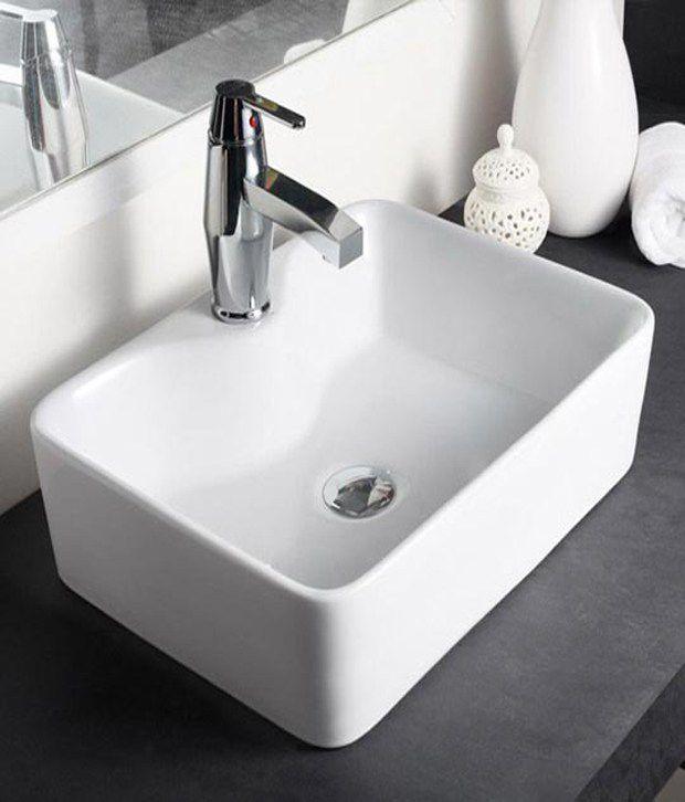 Buy Hindware Table Top Basin Vasca White 91066 Online