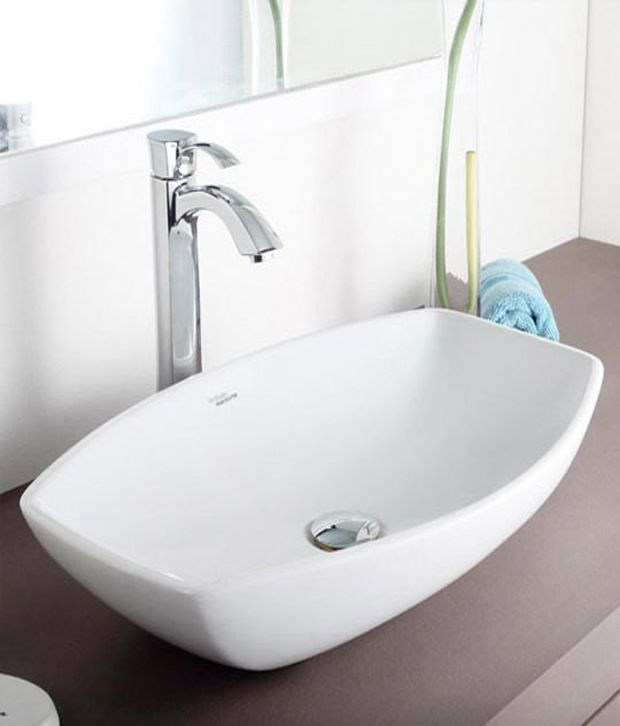 Cheap Bathroom Basins : Buy Hindware Table Top Basin Viva (White) - 91047 Online at Low Price ...