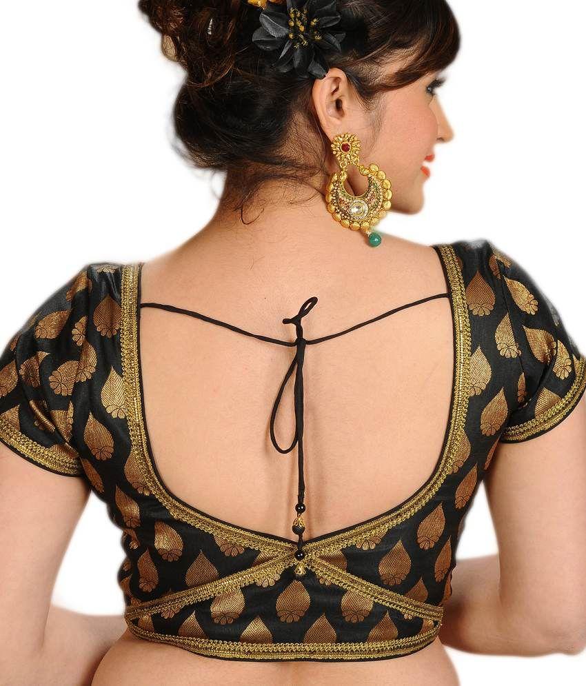 Salwar Studio Black Golden Jamevar Designer Blouse Buy Salwar