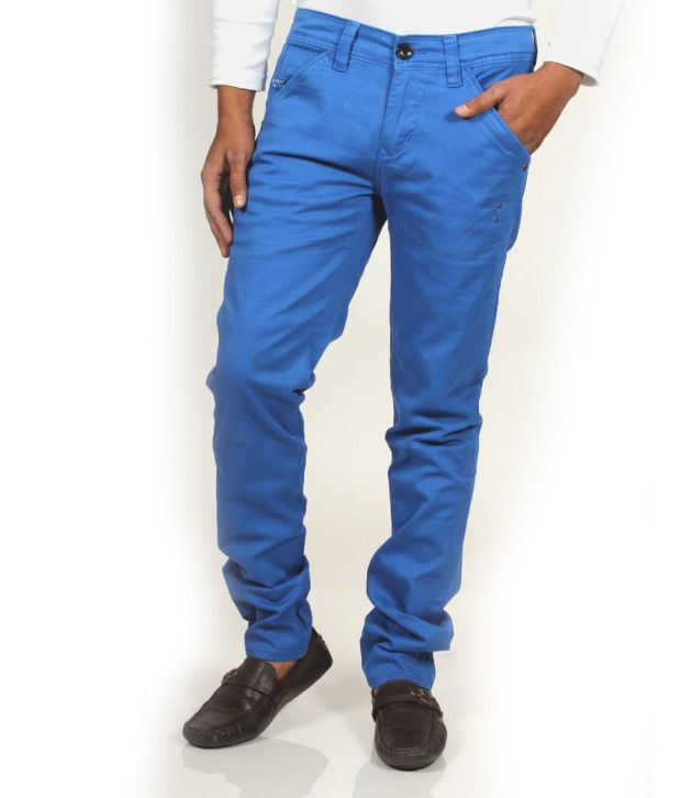 CODE 61 Stretchable Blue Skinny Fit Trouser