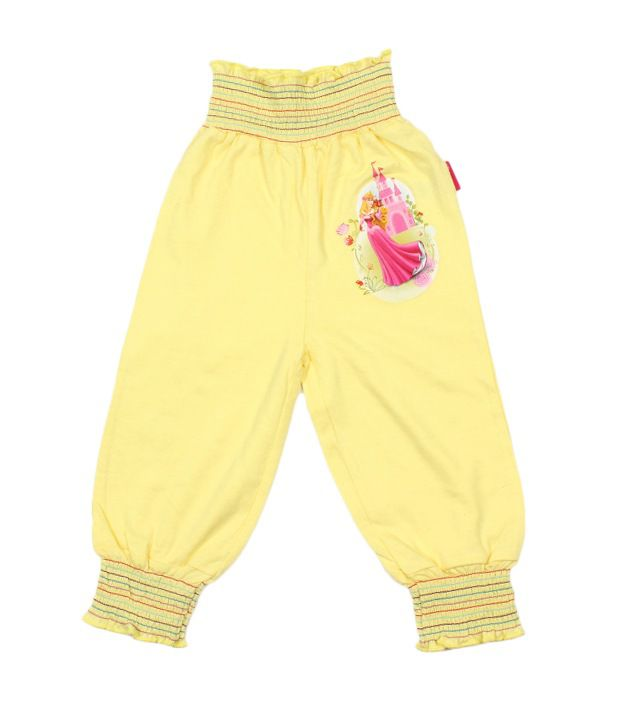 Disney Yellow Cotton Capris For Kids