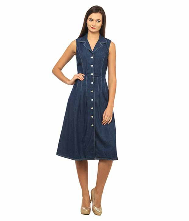 e5d1966ead31 Ladybug Blue Denim Dresses - Buy Ladybug Blue Denim Dresses Online at Best  Prices in India on Snapdeal