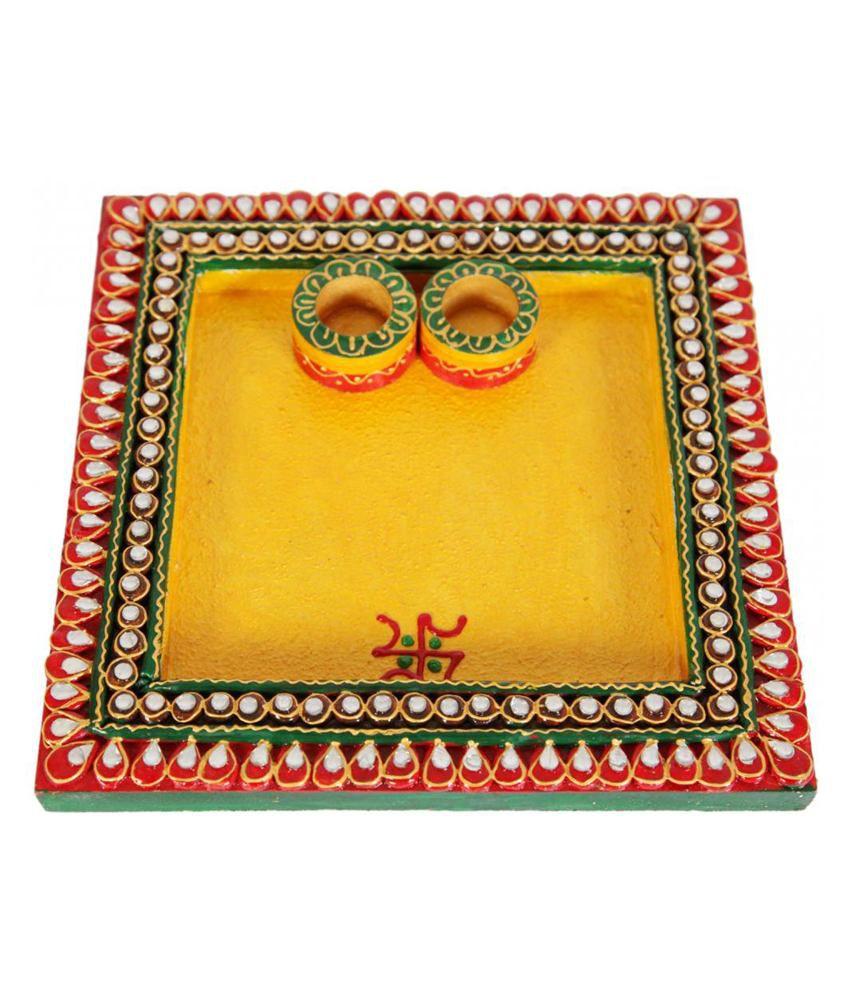 MIA Jaipur Square Pooja Plate