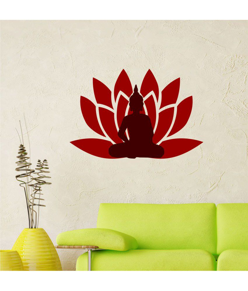 chipakk lord buddha wall sticker buy chipakk lord buddha buddha wall sticker vinyl god buddhism decal mural stencil