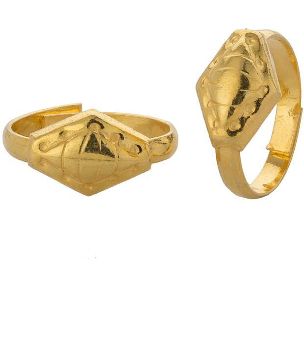 Voylla Gold Plated Toerings Featuring Rhombic Shape; Dainty Design