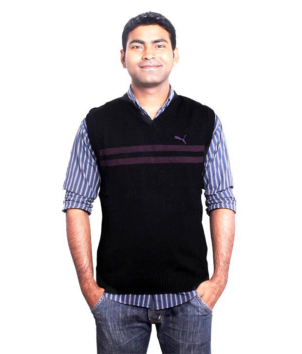 Puma Men\u0027s Striper Sweater , 83077705 Black