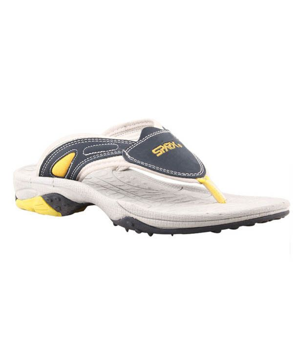Bata SparxXJ2 Navy Blue & Yellow Slippers