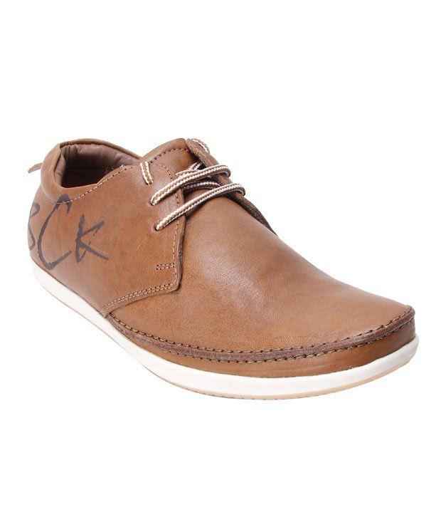 Buckaroo Tan Laced Casual Shoes