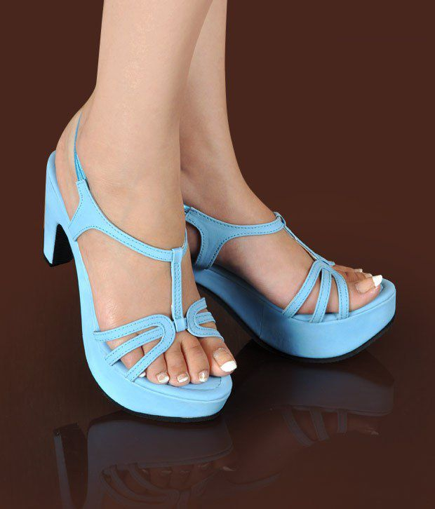Butterfly Beautiful Light Blue Heel Sandals