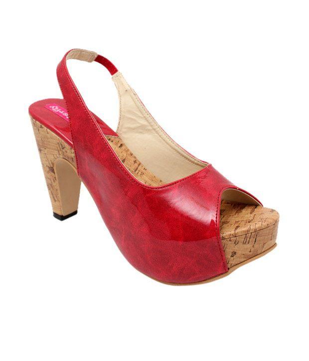 Butterfly Trendy Red Heel Sandals