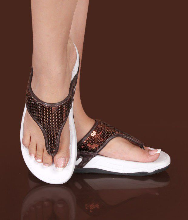 Carlton London Fabulous Sequined Bronze Slippers