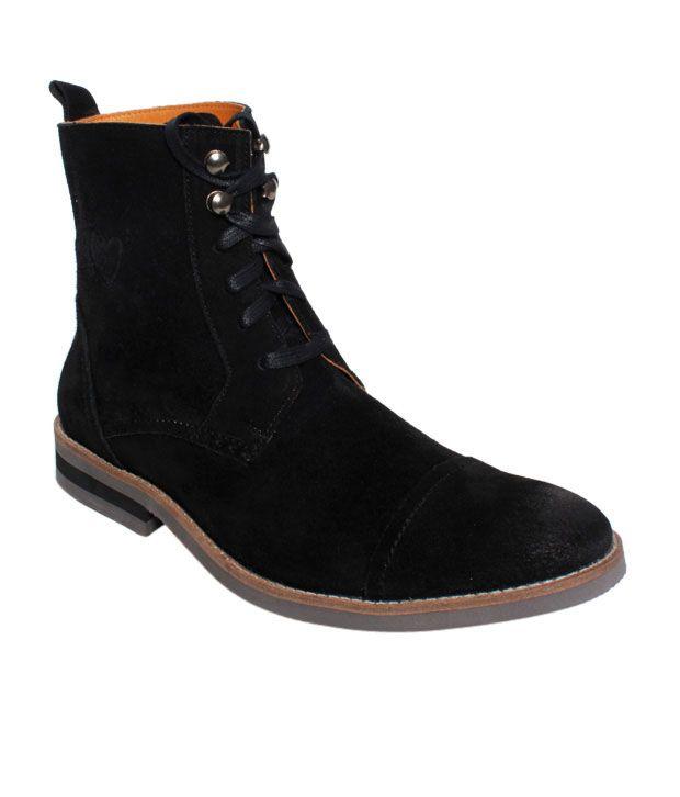 Delize Black High Ankle Boots